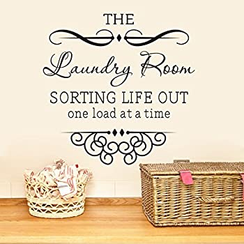 The Laundry Room Sorting Life Out One Load At A Time Wall Quote Vinyl Mural  Art Part 51