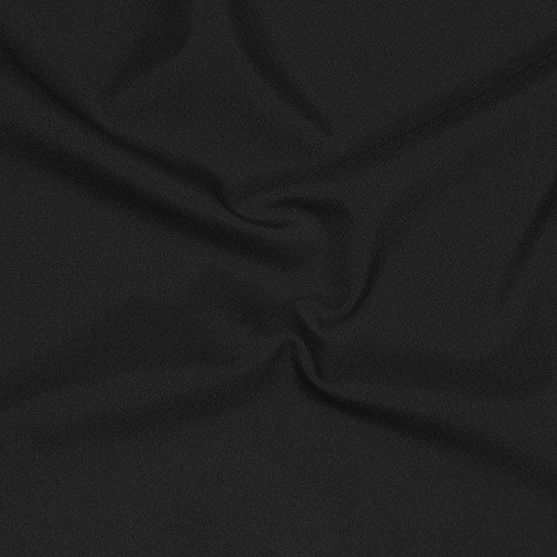 Tropical 100% Worsted Wool Suiting Fabric By the Yard, Black