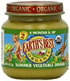 Earth's Best Organic Baby Food, Summer Vegetable Dinner, 4 Ounce (Pack of 12)