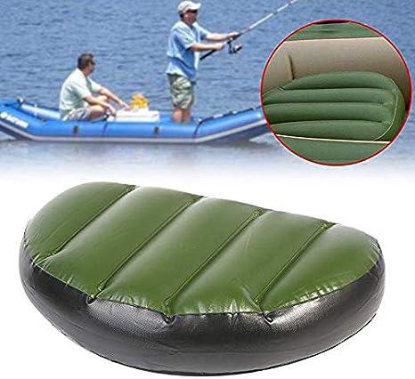Domeilleur 2pcs Inflable Asiento coj/ín Kayak canotaje Asiento para Acampar Senderismo Pesca