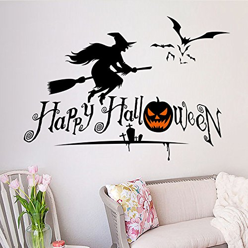 OTTATAT Wall Stickers for Bedroom Women 2019,Halloween Home Decor s DIY Removable Vinyl Easy to Peel Independence Day Sleeping Gift for Lover Free Deliver Clearance]()