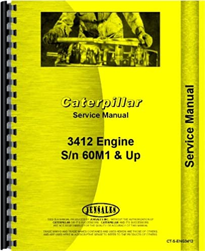 caterpillar 3412 engine service manual sn 60m1 and up rh amazon com Service Station Owner's Manual