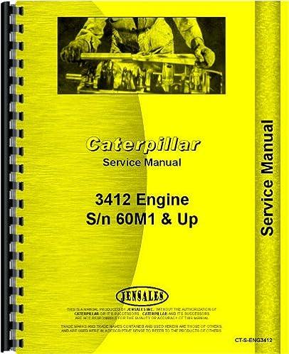 caterpillar 3412 engine service manual sn 60m1 and up rh amazon com 3408 Cat Engine 3412 service manual cat 3412