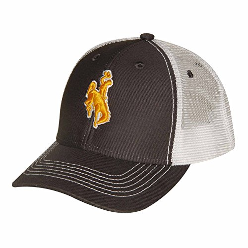 Ouray Sportswear NCAA Wyoming Cowboys Youth Sideline Mesh Cap, Adjustable Size, Dark - Youth Cap Sideline