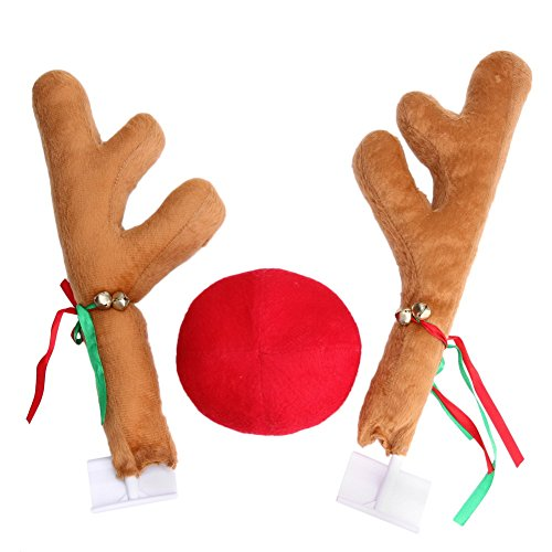 WinnerEco Elk Car Windows Decoration Toy for Christmas Party (Holiday Car Costume)