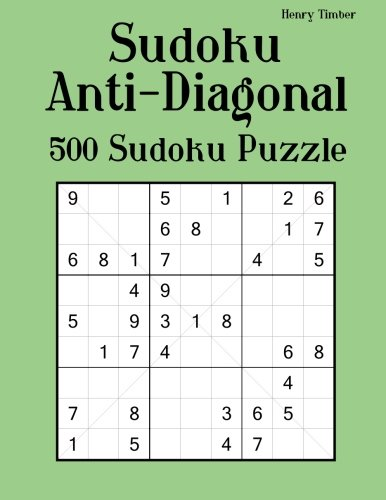 Download Sudoku Anti-Diagonal: 500 Sudoku Puzzle pdf