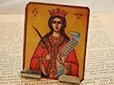 Saint Barbara Portable Altar Meditation Altar Prayer Devotion Desk Accessory