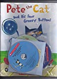 img - for 4 Pete the Cat Books and 4 CDs Pack (Books and audio CDs) : Pete the Cat Saves Christmas / Pete the Cat and His Four Groovy Buttons / Pete the Cat: I Love My White Shoes / Pete the Cat: Rocking in My School Shoes book / textbook / text book