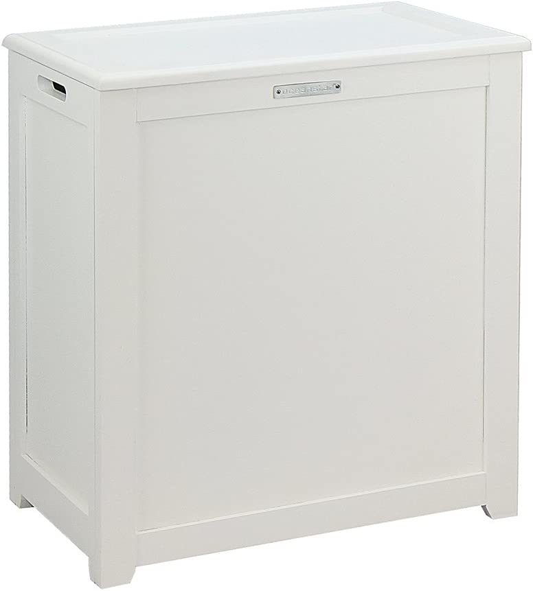Oceanstar Storage, White Laundry Hamper,