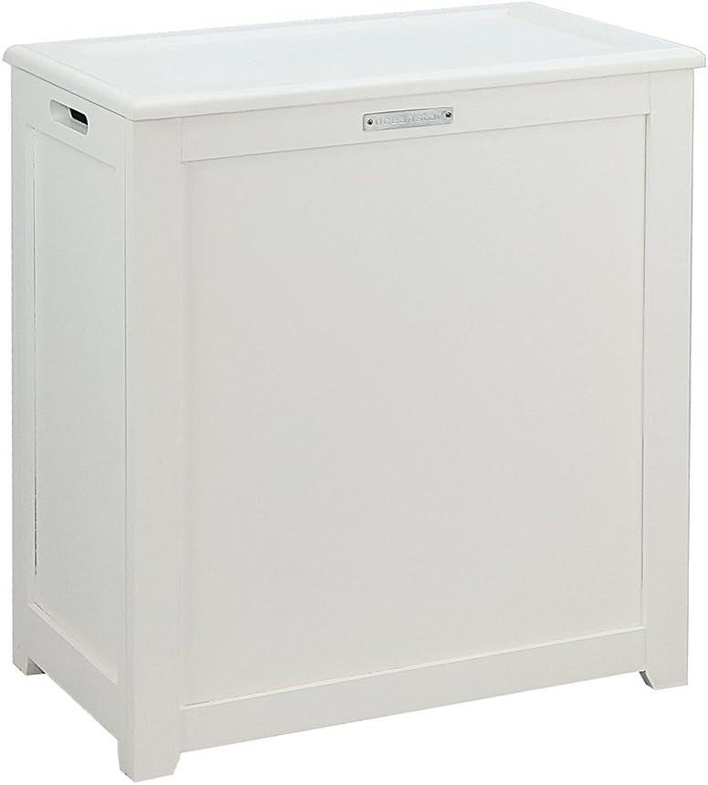 Oceanstar Storage, White Laundry Hamper,