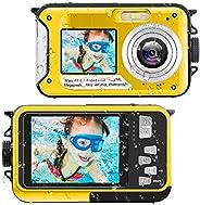 Waterproof Digital Camera Underwater Camera Full HD 2.7K 48 MP Video Recorder Selfie Dual Screens 16X Digital