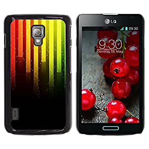 Be Good Phone Accessory // Dura Cáscara cubierta Protectora Caso Carcasa Funda de Protección para LG Optimus L7 II P710 / L7X P714 // Music Neon Bars