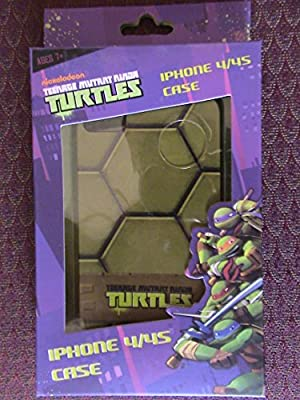 TEENAGE MUTANT NINJA TURTLES iPhone 4/4s TMNT Hard Green Shell Snap On Case