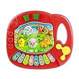 jeux éducatifs,Xinan Piano bébé Enfants Musical Educational Animal Farm (rouge)