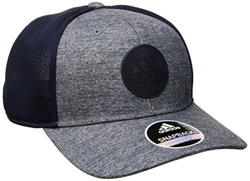 adidas Mens Thrill Structured Snapback Cap, Jersey Print Onix/Collegiate Navy, One Size - Hat Cap Jersey
