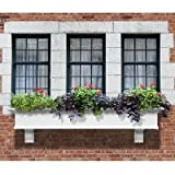 Mayne Yorkshire II 72″ Window Box Combo with Corbel Brackets White 6′