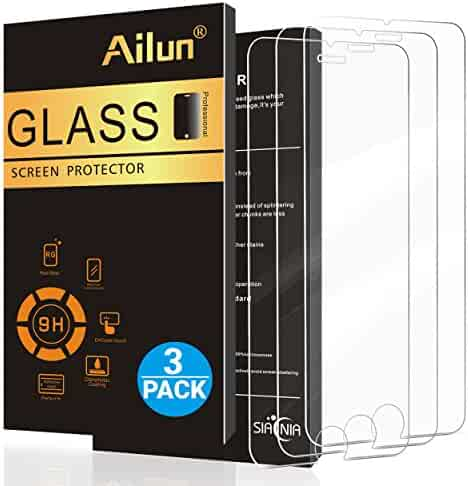 AILUN Screen Protector for iPhone 8 plus 7 Plus,[5.5inch][3Pack],2.5D Edge Tempered Glass for iPhone 8 plus,7 plus,Anti-Scratch,Case Friendly,Siania Retail Package