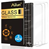 AILUN Screen Protector for iPhone 6 plus,iPhone 6s plus,[3 Pack] 0.33mm 2.5D Edge Tempered Glass,Anti-Scratches,Case Friendly,Siania Retail Package