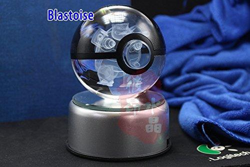 Pokemon Crystal Ball Blastoise - K9 Crystal Size 3.1