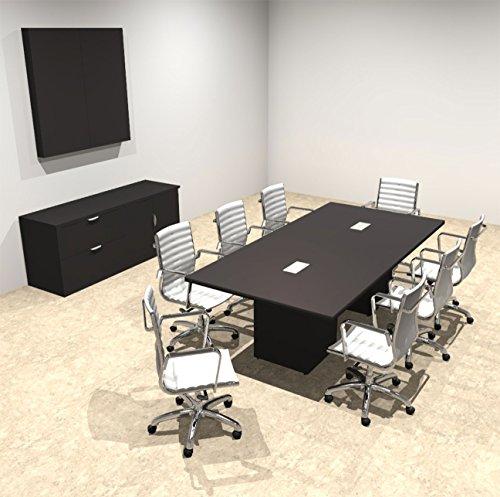 Modern Rectangular Top Cube Leg 8' Feet Conference Table, of-CON-CS7
