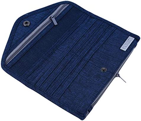 SEVENHOPE パスポートホルダー 長財布 カードホルダー 財布 クラッチ マネーバッグ 21*11.8cm ブルー DFGGJHK88