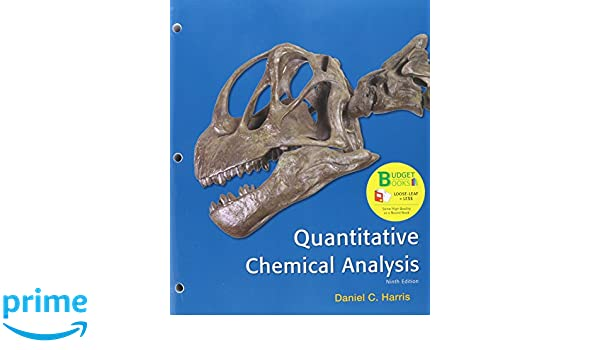 Amazon.Com: Loose-Leaf Version For Quantitative Chemical Analysis