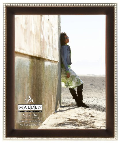 Malden International Designs Classic Bronze Metal With Silver Beads 2-Tone Picture Frame, 8x10, ()