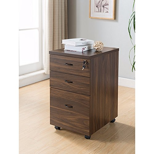 Benzara BM148874 Wooden File Cabinet with Three Drawers by Benzara
