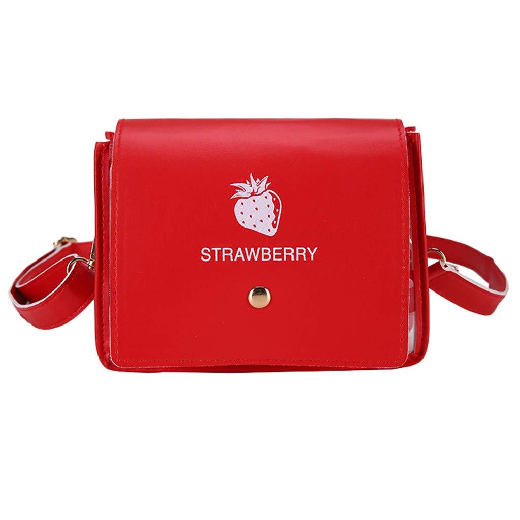 Women's Fashion Wave Point Translucent Shoulder Bag Fruit Grain Crossbody BagHandbags&Clutches&Evening Bags