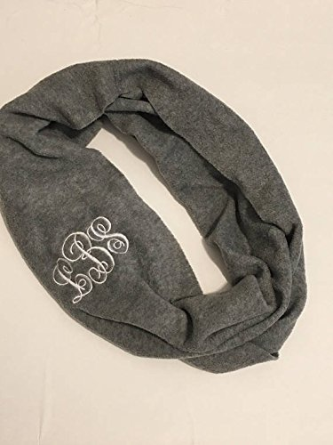 e | Infinity Scarf | Embroidered Monogram | Gift ()
