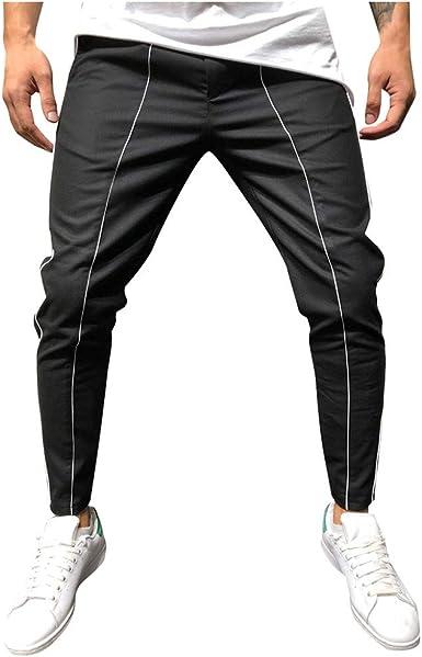 FELZ Pantalón Deporte Hombre con Bolsillos Hombre Pantalón De ...