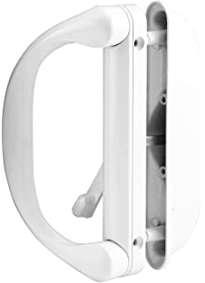 Prime Line Products C 1275 Sliding Door Handle Set With Latch, White, 1