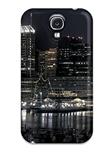 Awesome Case Cover/galaxy S4 Defender Case Cover(city Night Harbour)