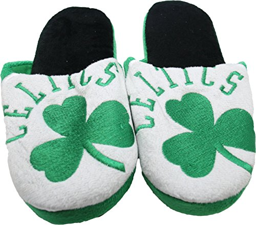 NBA Boston Celtics Men's Slippers Green (Small (7-8)) by NBA