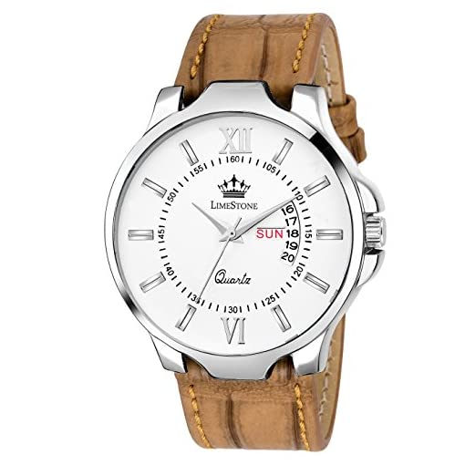 Limestone Day And Date Watch For Men/Boys