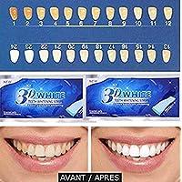 Teeth Whitening Strips, Dental Enamel Safe Teeth Bleaching Treatment for Non-Peroxide Whitener Kit Professional Remover of Teeth Stain Mint Flavor 14 pcs