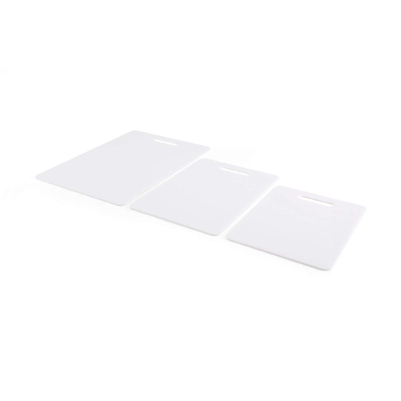 Rohi Chopping Board Plastic 3 Piece Set White