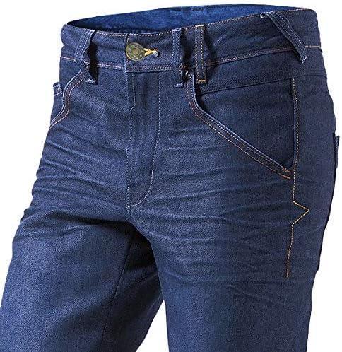 M 48 Kurz//Weite 32 L/änge 30 Jet Motorradhose Jeans Kevlar Aramid Mit Protektoren Herren , Blau