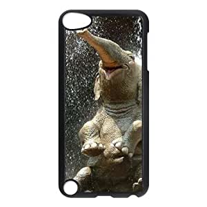 Unique DIY Design Cover Case with Hard Shell Protection for Ipod Touch 5 case with Bathing Elephant lxa845530