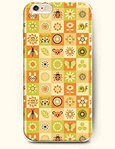 OOFIT Apple iPhone 6 Case 4.7 Inches - Congregation of Animals and Plants-Tiger Butterfly Bee Ladybug