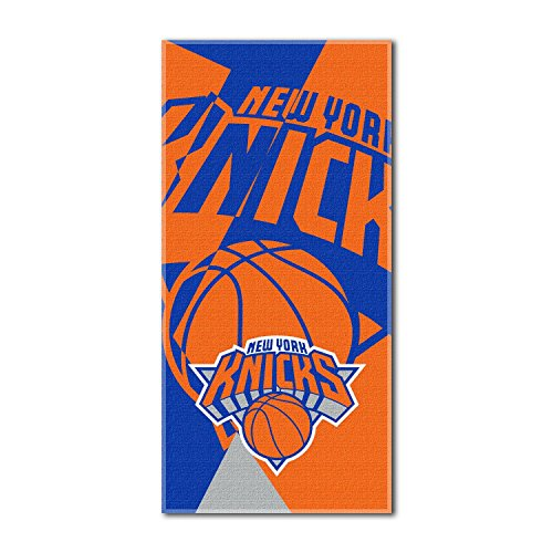Officially Licensed NBA New York Knicks Puzzle Beach Towel, 34