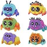 Spider FlufferPuff; Harry Scoots, Klutzers, Toofy Spooder, Bo Dangles and Peeks Voice-Activated Pet; Ages 5 and up - Set of 6