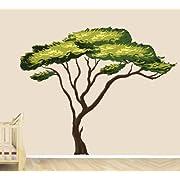 Safari Tree Decal, African Tree Decal, Jungle Stickers