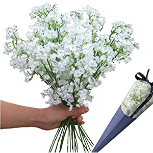 12pcs Artificial flowers Gypsophila Baby's Breath Bouquet Silk Baby Breath Flowers for Home Wedding Party Decorations Pretty Flowers 14