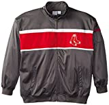 MLB Boston Red Sox Men's Track Jacket, 4X-Large Tall, Charcoal/Red