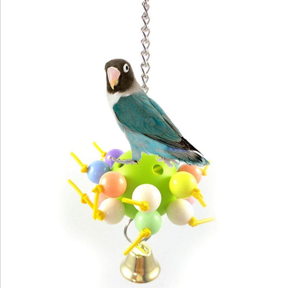 Namgiy Juguete Colgante para Pájaros Pájaros, Loro, Cacatúa, Cacatúa, Jaula de Amapola, 8 x 8 x 18 cm