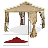 Cheap OPEN BOX Replacement Canopy Top Cover for Home Depot's Arrow Gazebo – RipLock 350 – Cinnabar