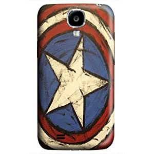 S4 case ,Samsung Galaxy S4 case ,fashion durable 3D design for Samsung Galaxy S4,PC material phone cover ,Designed Specially Pattern with Captain America Shield Drawing.