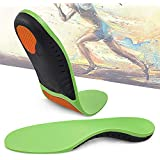 Hyperspace Sport Gel Insoles Plantar Fasciitis Foot Insoles Arch Supports Orthotics Inserts for Women and Men, Relieve Flat Feet, High Arch, Foot Pain.(Green M)