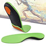 Hyperspace Sports Insole for Gel High Arch Support,Plantar Fasciitis,Orthotic,Flat Feet,Best shoe Insoles Men and Women Everyday Use Maximum Comfort and Shock Absorption for Injury Prevention(Green S)